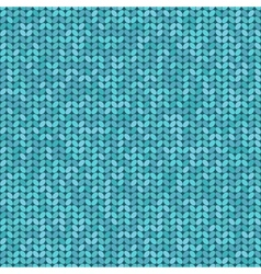 Knitted seamless pattern knitting craft background vector