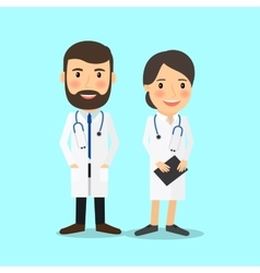 Medical doctor characters vector