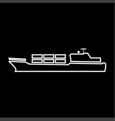 Merchant ship it is icon vector