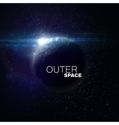 Outer space abstract vector
