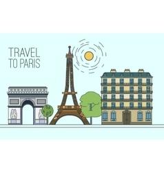 Paris travel 11 a vector