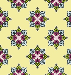 Seamless traditional indian flower background patt vector