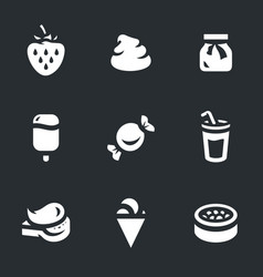set of sweets icons vector image