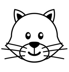 simple cartoon of a cute cat vector image