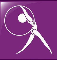 Sport icon design for gymnastics with hoop vector image