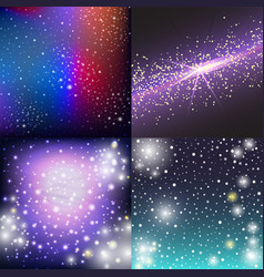 Starry outer galaxy cosmic space vector