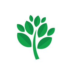 tree green leaves and ecology logo vector image vector image