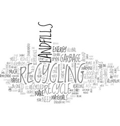 Why everyone should recycle text word cloud vector