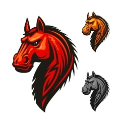 Horse stallion head and mane icon vector