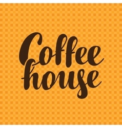 text coffee house vector image