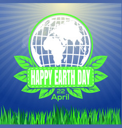 Happy earth day logo against the backdrop of vector