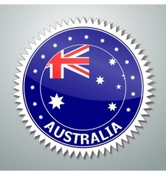 Australian flag label vector