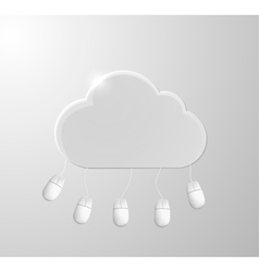 Cloud computing concept background with mouses vector image