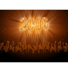 2016 happy New Year disco flyer vector image vector image
