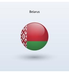Belarus round flag vector