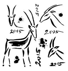 Goat 2015 set New year Symbol vector image