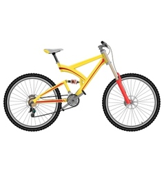 Downhill extreme sport bicycle vector