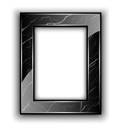 Marble frame for photo vector