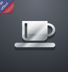 Coffee cup icon symbol 3d style trendy modern vector