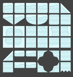 Tileset platformer icy ground vector