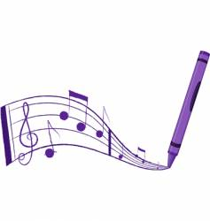 Crayon music vector