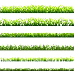 6 different types of green grass vector image