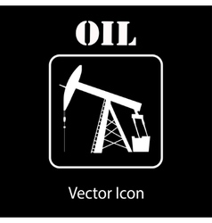 Oil pump jack silhouette vector