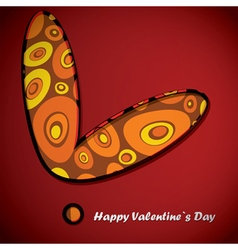Valentine day card with circle inside heart vector