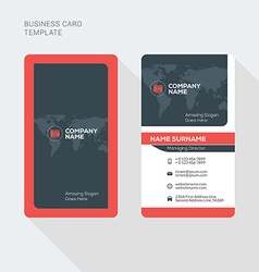 Creative and Clean Business Card Print Template vector image