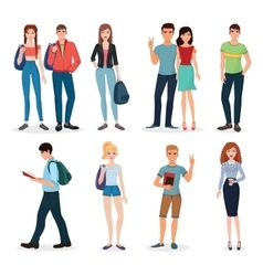 International young people characters and couples vector