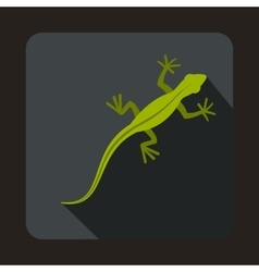 Lizard icon flat style vector
