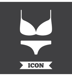 Women bra and panties icon intimates underwear vector