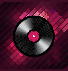abstract musical background with vinyl record disk vector image