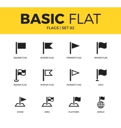 Basic set of flags icons vector
