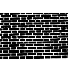 Black brick wall texture background old rough vector