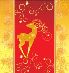 christmas decor deer vector image vector image