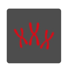 Chromosomes rounded square button vector