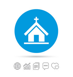 Church icon christian religion symbol vector