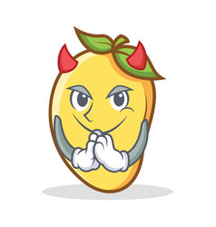 Devil mango character cartoon mascot vector