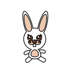 Drawing rabbit animal character vector