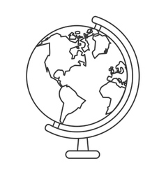 earth map icon vector image