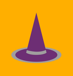 Flat icon on background halloween witch hat vector
