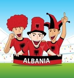 Group of albania sport fan vector