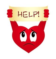 heart help vector image vector image