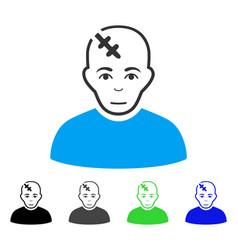 Joy head hurt icon vector