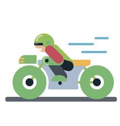 Motoracer riding motorcycle vector