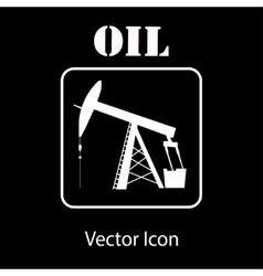 Oil pump jack silhouette vector