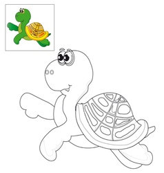 Picture for coloring a turtle vector