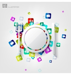 Plate web icon vector image vector image