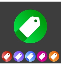 Price tag flat icon label vector image